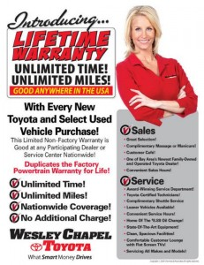 Toyota Lifetime Warranty